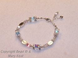 Faith-Hope-Love Wedding/Anniversary bracelet