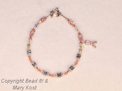Breast Cancer Awareness Name bracelet - Andrea