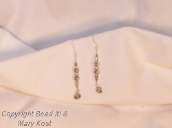 Crystal and Silver dangle earrings