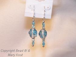 Aqua Chinese Lampwork earrings