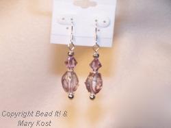Amethyst Chinese Lampwork earrings