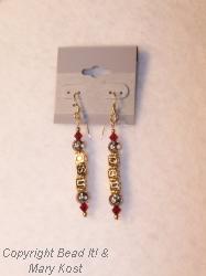 OSU dangle gold earrings