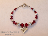 15 Anos July birthstone bracelet