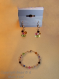 Earrings to match Birthstone bracelet