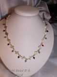 Elegant Ohio State woven necklace