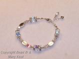 """Faith Hope and Love"" wedding/anniversary bracelet"