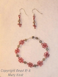 Ohio State Wire bracelet and earrings