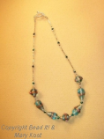 Turquoise lampwork necklace
