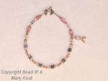 Breast Cancer Awareness Name bracelet - Andrea