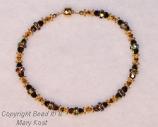Bridesmaid's bracelet  - Black and 24kt