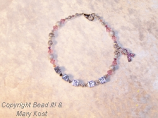 Breast Cancer Awareness Name bracelet - Karen