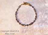 Smoked Crystal/rondelle  bracelet