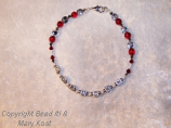 """""""Go Bucks""""  scarlet and gray  with silver 3"""