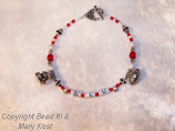 OSU letter bracelet with football and helmet