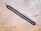 Black double strand cats eye bracelet