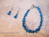 Turquoise gemstone and Silver set