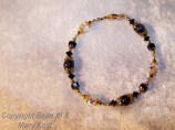 Black moonstone Crystal bracelet