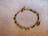 Packer Initial bracelet with football - 2