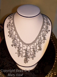 Swarovski crystal and Freshwater Pearl  drop Necklace