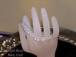2 strand Crystal AB woven bracelet