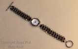 Ohio State woven watch/toggle clasp