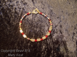 """""""Go Bucks""""  scarlet and gray  with gold -2"""