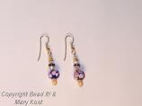Pink/Blue porcelain earrings