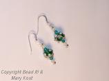 Green and white Fun earrings