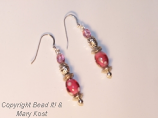 Pink Party Earrings