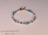 Swarovski Austrian Crystal Birthstone bracelet with 14 kt gold