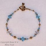 Aquamarine and Gold bracelet
