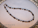 Wood bead and Hematite necklace