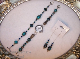Watch, bracelet and earring Set
