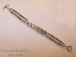 2 strand Mother's bracelet/silver and gold