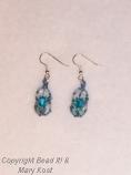 Woven Swarovski Turquoise earrings