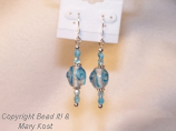 Aqua Chinese Lampwork earrings