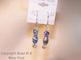 Ocean Blue AB glass and Swarovski earrings