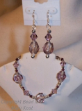 Amethyst Swarovski and  lampwork set