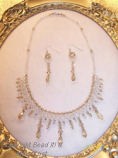 Woven wedding necklace and earrings