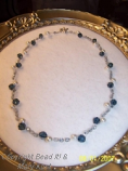 Blue and Pearl Illusion Necklace