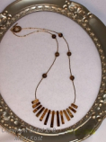 Tiger Eye Gemstone necklace/gold Stardust