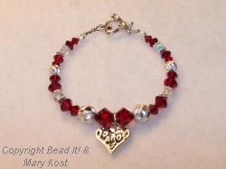 15 Anos July birthstone bracelet