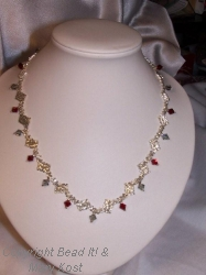 Elegant Ohio State woven necklace
