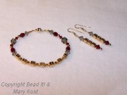 Ohio State TBDBITL bracelet and earring set