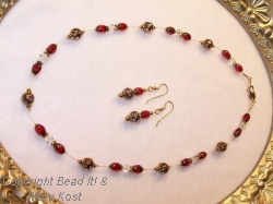 Scarlet and Gray Gold Set