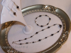 Cosmo Jet Bracelet, Earrings, and Necklace