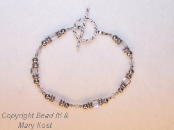 Crystal Squares and Silver bracelet