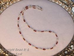 Swarovski and Jasper gemstone/silver necklace