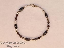 Earthtone Gemstone and Silver bracelet