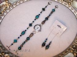 Watch, bracelet and earring Set